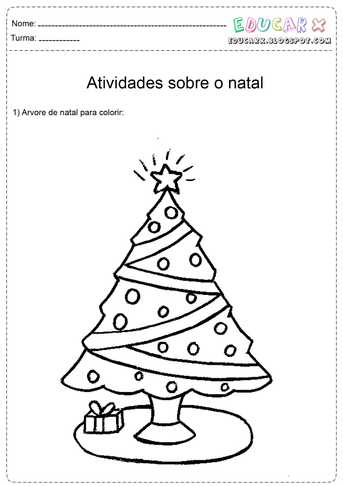 Jornal Ponto Com Desenhos Para Colorir Arvores De Natal