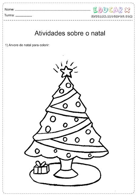 Desenhos para colorir arvores de natal