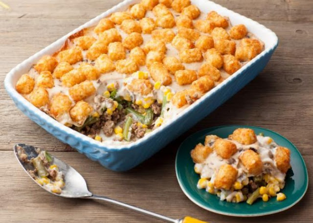 Best Ever Tater Tot Casserole #dinner #comfortfood