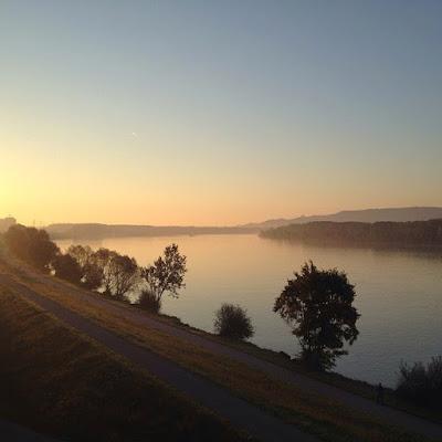 Radeln am Donauufer. Innehalten und Picknicken, alles möglich. Auf beiden Seiten © diekremserin on the go