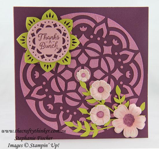 Beautiful Bouquet, Embossing Paste, Pattern Party Masks, Eastern Medallions, #thecraftythinker, Stampin' Up Australia Demonstrator, Stephanie Fischer, Sydney NSW
