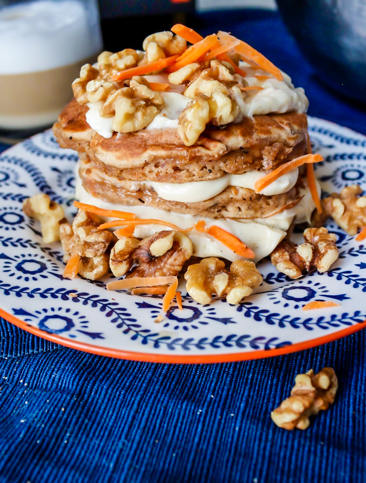Carrot Cake Pancakes // Carrot Cake Recipes // Easy Carrot Cake Recipe // Carrot Cake Pancake Recipes // Easy Pancake Recipe // Maple Cream Cheese Frosting // Pancake Recipes For Brunch // Top 5 Pancake Recipes