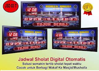 Toko Jam Jadwal Sholat Digital Masjid Di Jakarta Pusat