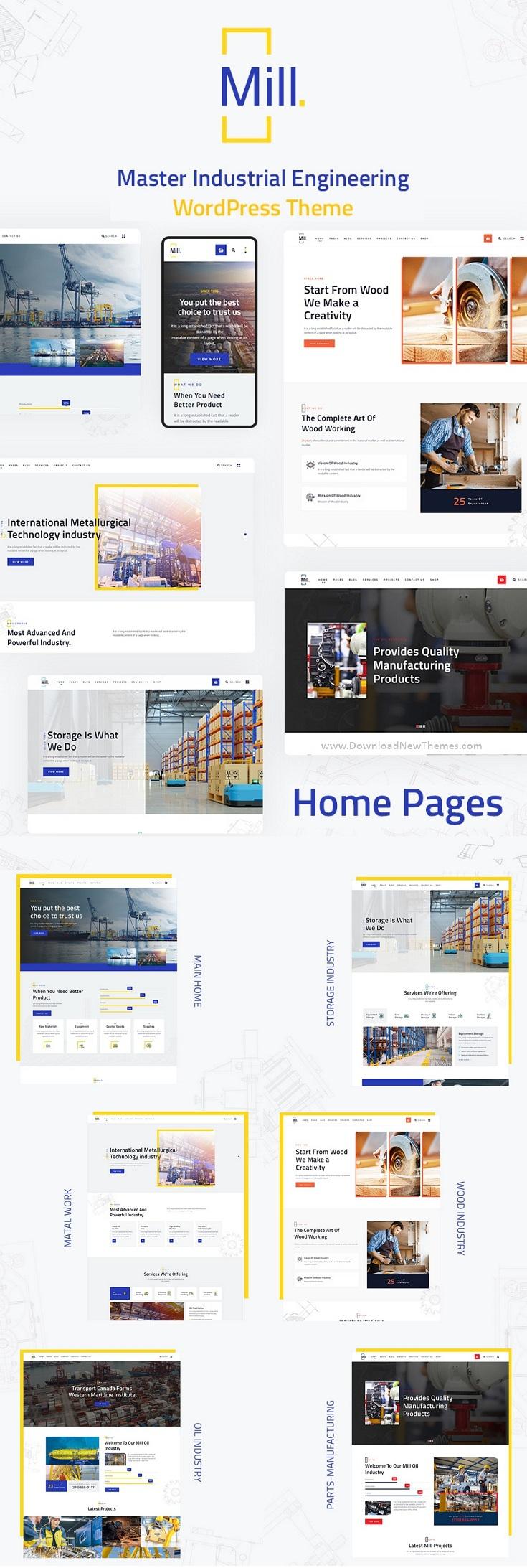 Industry Engineering Factory WordPress Theme