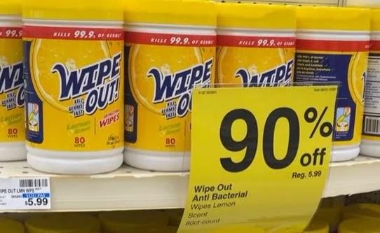 Wipe Out! Antibacterial Wipes Lemon