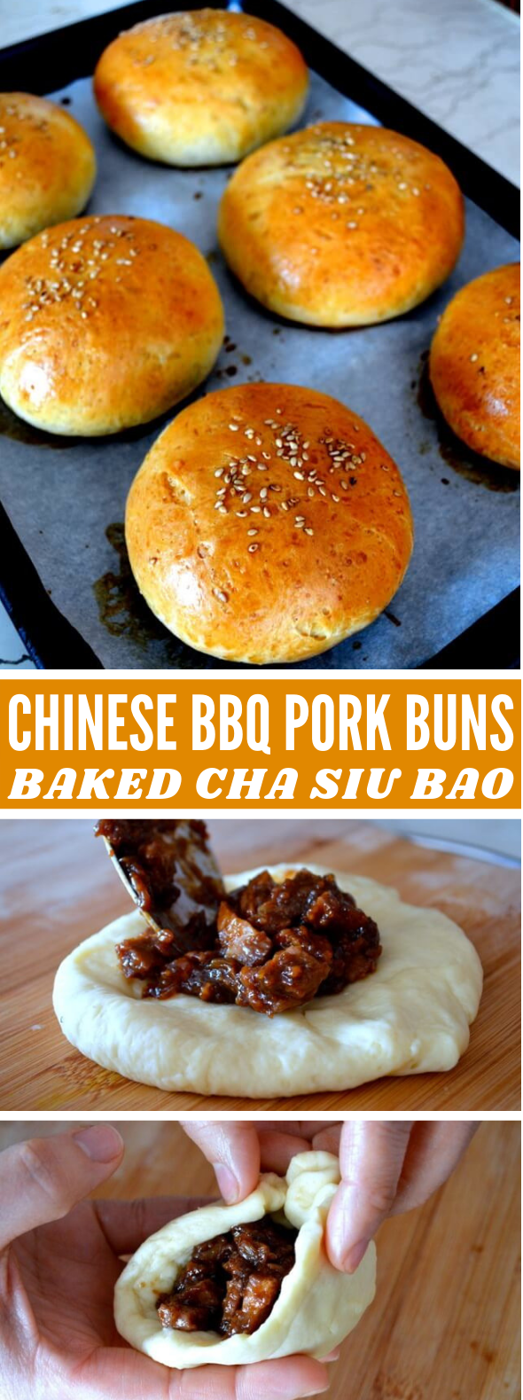 CHINESE BBQ PORK BUNS (BAKED CHA SIU BAO RECIPE) #dinner #food