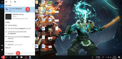Menampilkan keyboard di layar windows 10