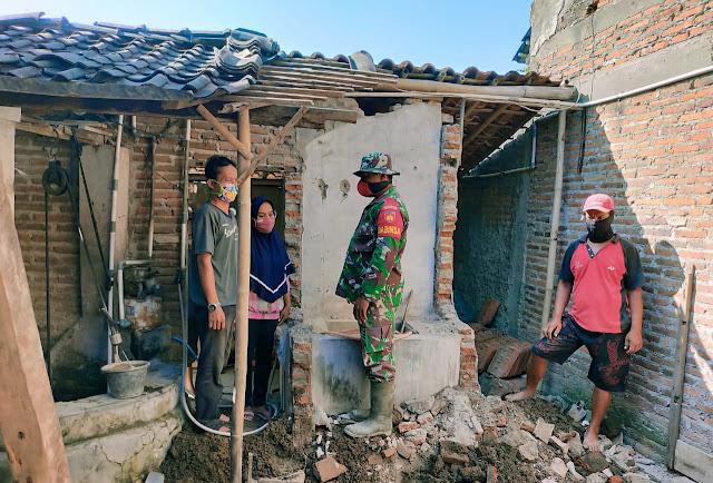 Keceriaan Warga Desa Sawahan Kecamatan Juwiring Penerima Bantuan Perehapan RTLH