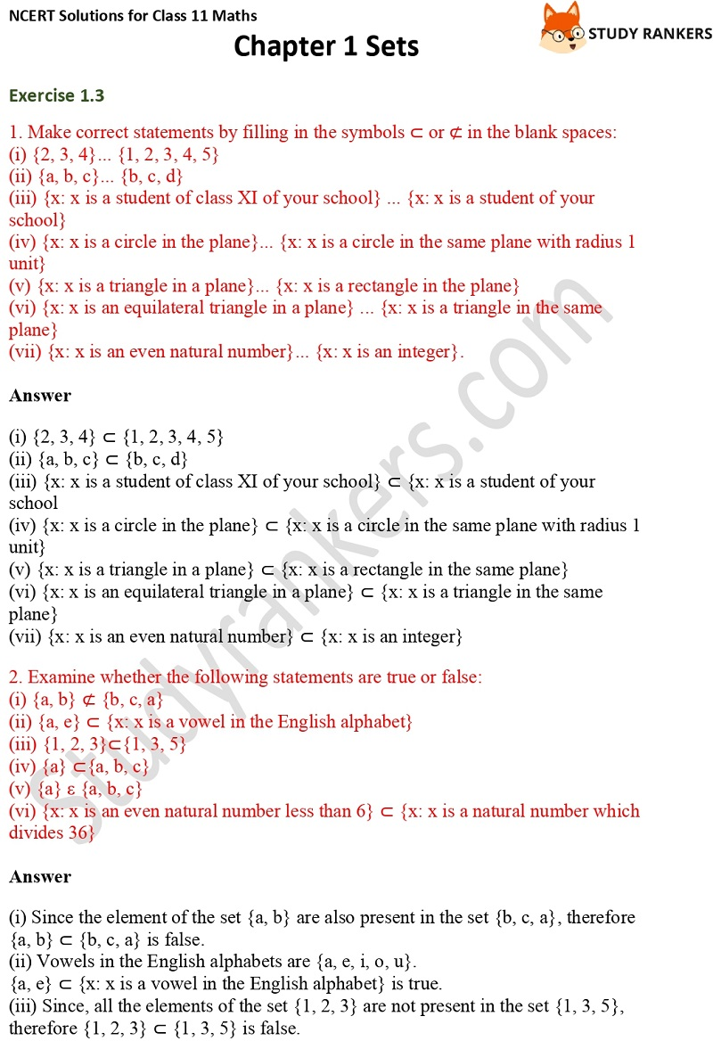 NCERT Solutions for Class 11 Maths Chapter 1 Sets 6