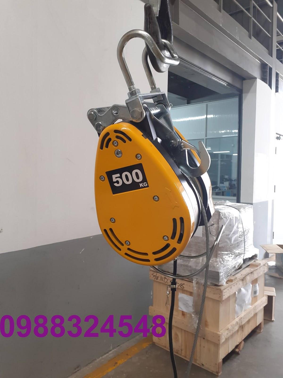 Tời cáp điện treo mini DU-500A nâng 500kg