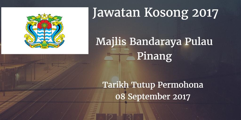 Jawatan Kosong Majlis Bandaraya Pulau Pinang 08 September 2017