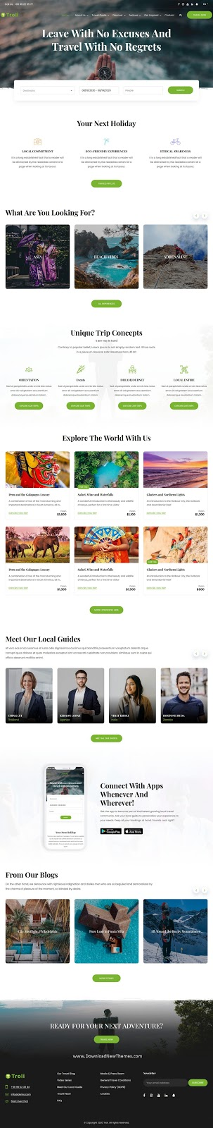 Troli - Tour and Travel Guide HTML5 Template