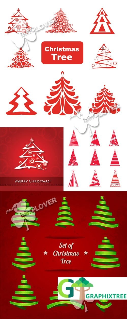 Vector Collection of Christmas trees