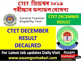 CTET Result 2019 Date
