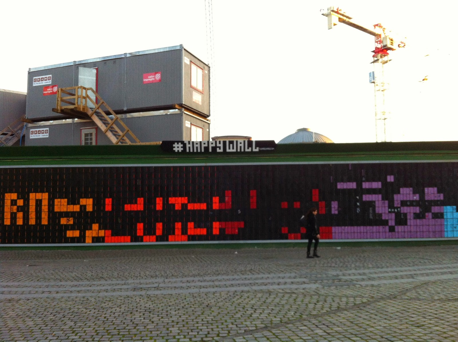 a photograph of the #happywall in Copenhagen
