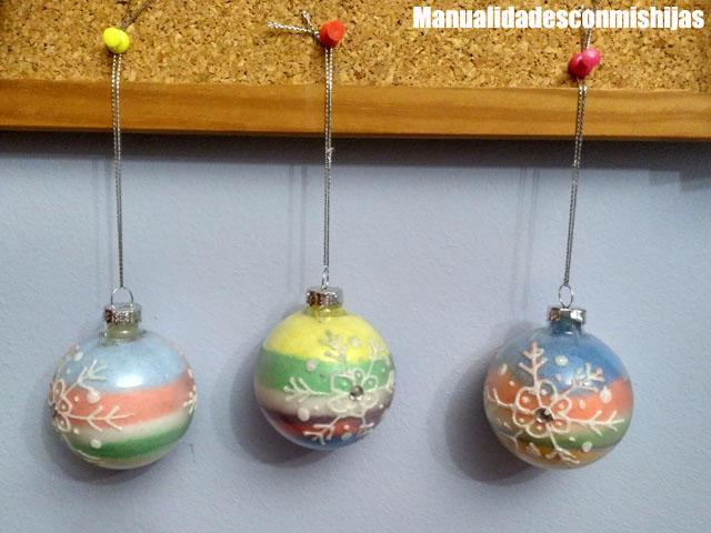 Manualidades con mis hijas - Bolas navidad transparentes ...