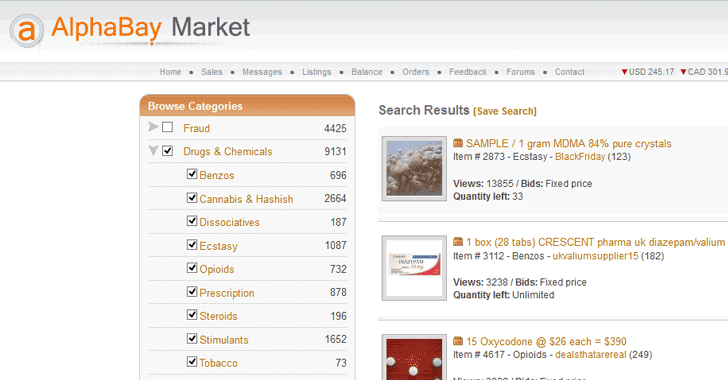 AlphaBay Dark Web Market Goes Down; Users Fear Exit-Scam