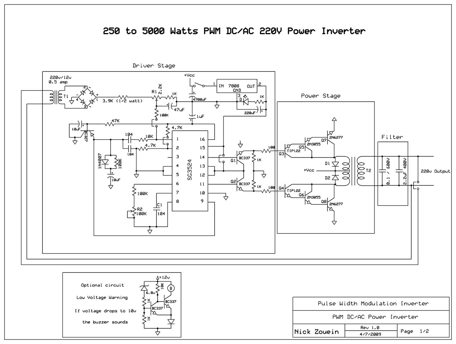 1000w Dell Power Supply Wiring Diagram Skema Rangkaian Inverter 5000 Watt Dengan Gambar