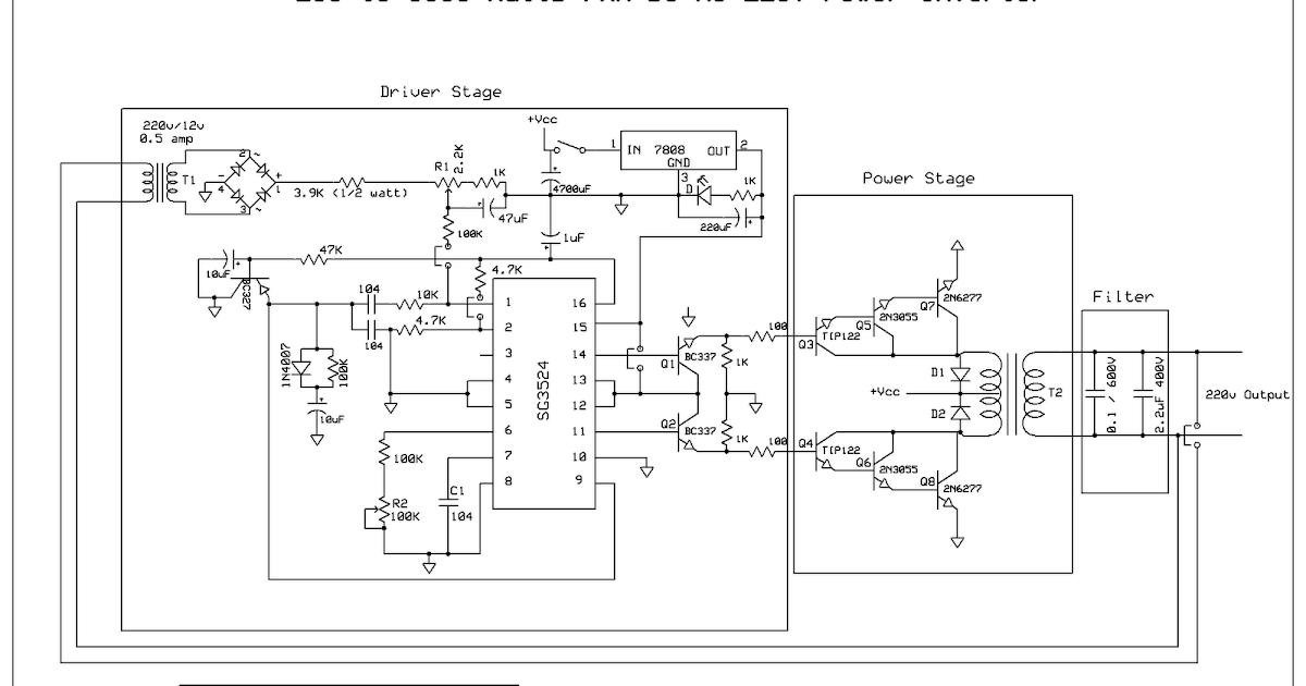 Skema Rangkaian Inverter 5000 Watt Dengan Gambar