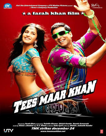 Poster Of Tees Maar Khan 2010 Hindi 550MB HDRip 720p HEVC Watch Online Free Download downloadhub.in