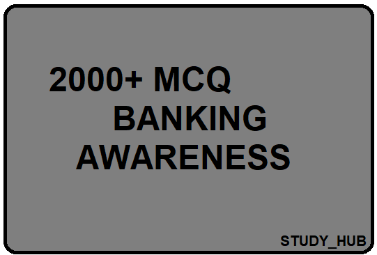 BANKING AWARENESS MCQ BOOK