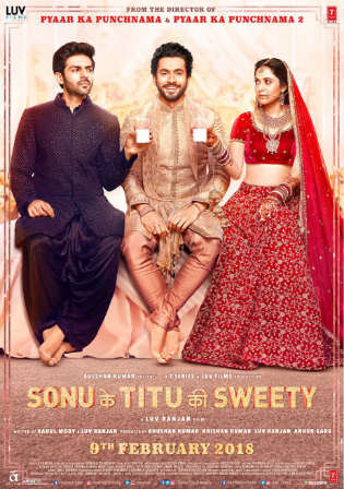 Sonu Ke Titu Ki Sweety 2018 pDVDRip 350MB Full Hindi Movie Download 480p Watch Online Free Worldfree4u 9xmovies