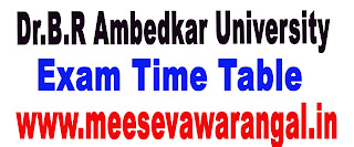 Dr.B.R Ambedkar University UG 1st Sem Dec 2015-Exam Results