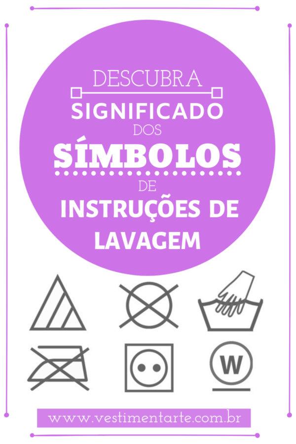 Significado Símbolos Instrução Lavagem Roupas