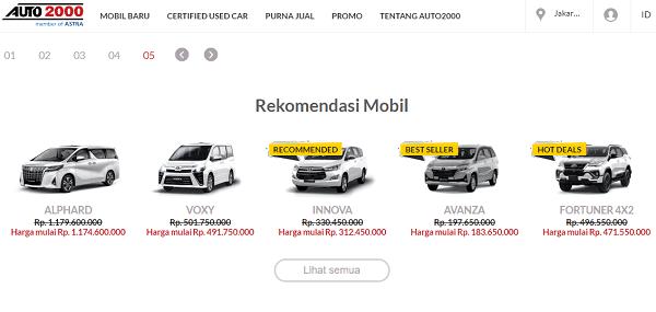 website untuk membeli kendaraan merk toyota terbesar