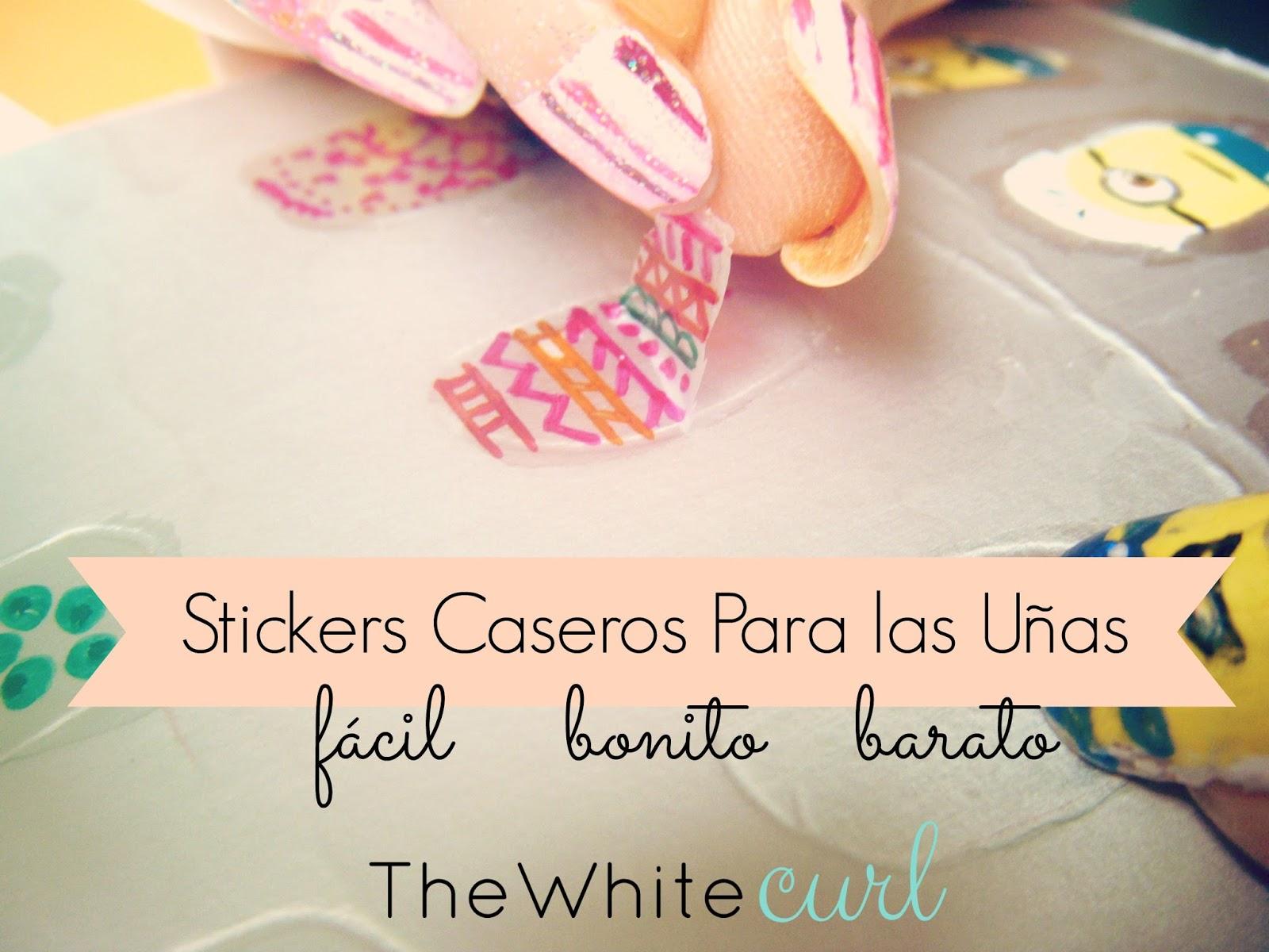 DIY Stickers para Uñas caseros - The White Curl