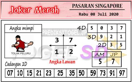 Prediksi Joker Merah SGP Rabu 08 Juli 2020