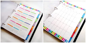 Year at a glance and monthly calendar for the homeschool planner