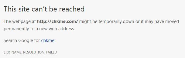 Situs Chkme.com Erro