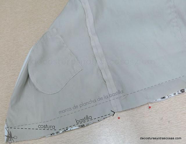como coser el bajo de una chaqueta o abrigo