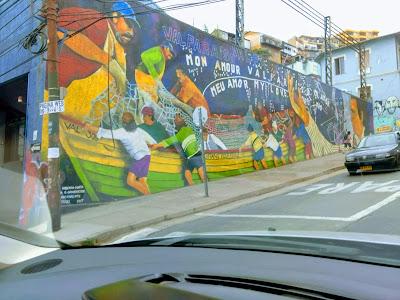 Hermosos murales en la ciudad de Valparaíso