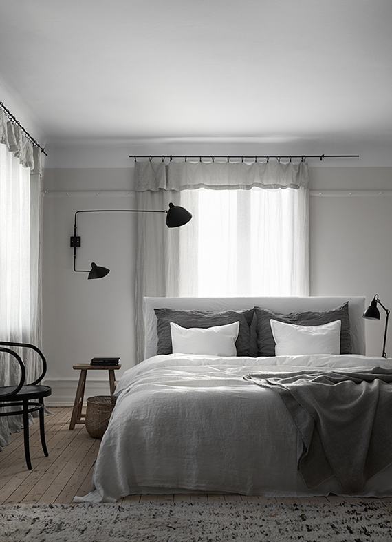Gray interiors inspiration | Lotta Agaton