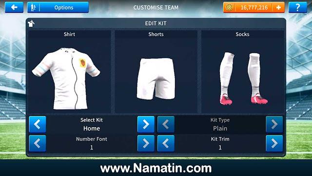 Kostum Dream League Soccer Sandy Spongebob