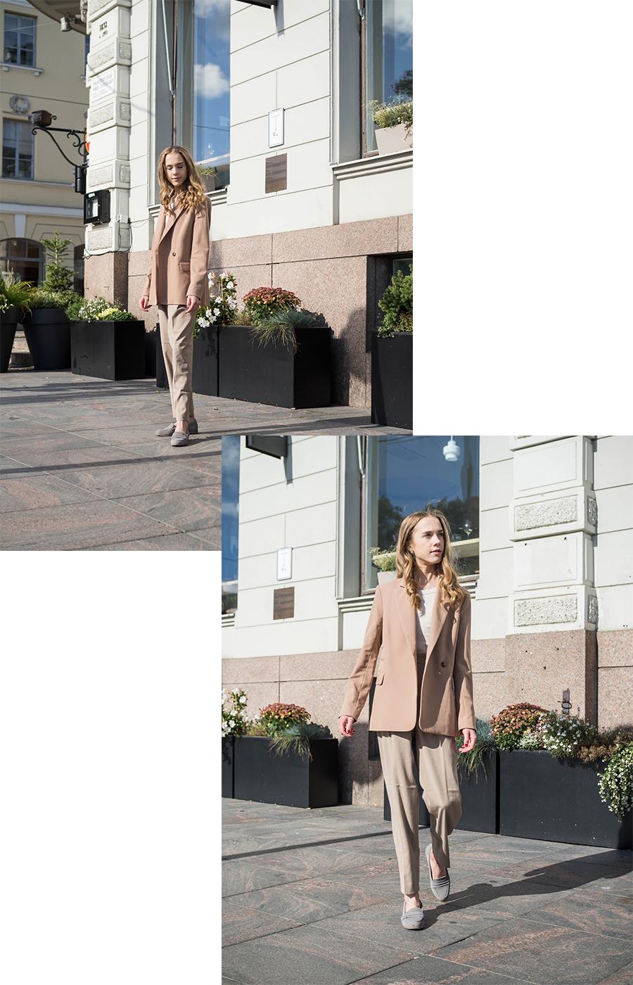 Kuinka pukeutua kokonaan beigeen - How to wear all beige outfits