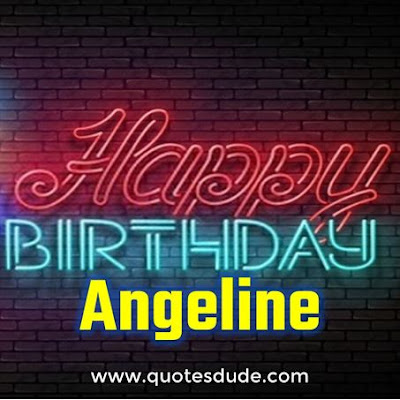 Wishing Happy Birthday Angeline Cake Images.