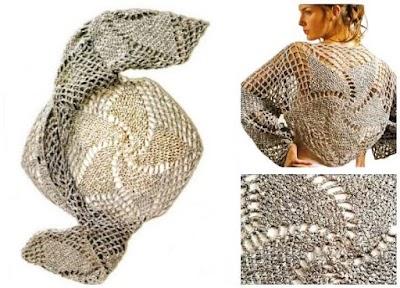 Jersey plateado tejido con efecto visual