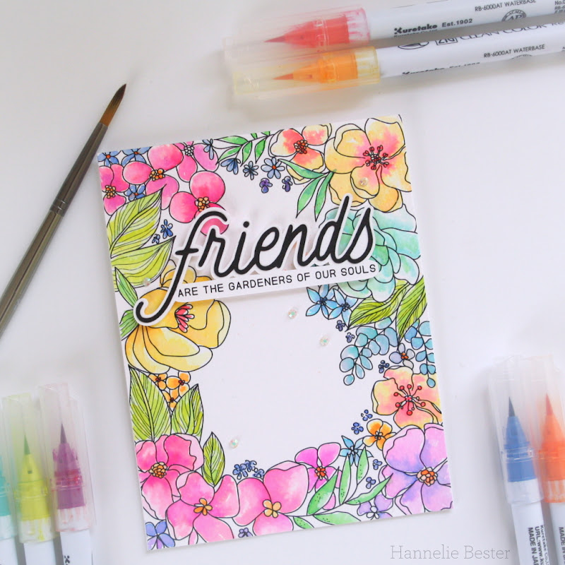 Alex Syberia - Spring frame- watercolor - friendship - garden