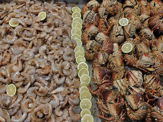 Productos del mar durante la noche Dominicana