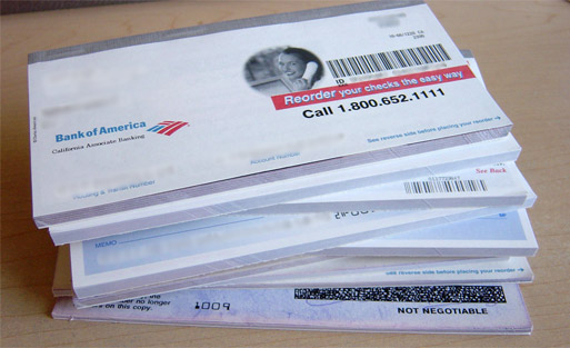 order bank of america checks