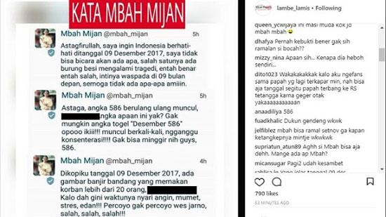 Ramalan Mbah Mijan Kejadian Tanggal 9 Desember 2017 Jadi Viral