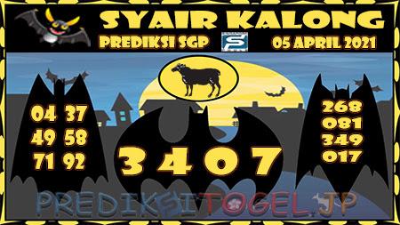 Prediksi Kalong SGP Senin 05-Apr-2021