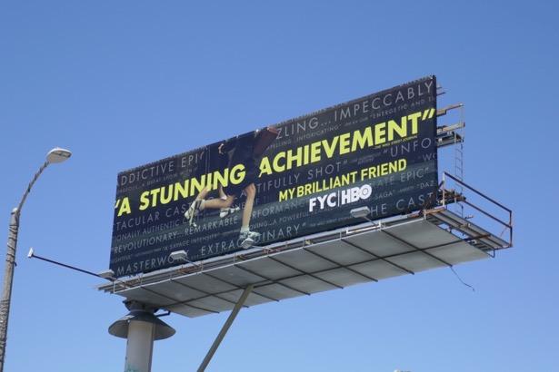 My Brilliant Friend Emmy FYC billboard