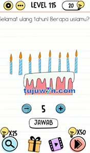 Level 115 Selamat ulang tahun berapa usiamu brain test