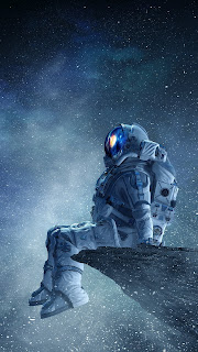 Hope Everything Right Astronaut Mobile HD Wallpaper