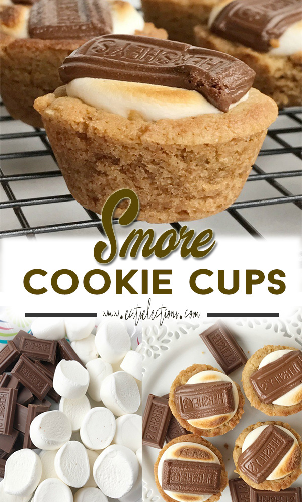 S'mores Cookie Cups | These S'morеs Cookiе Cups are perfect as a snack or as a dessert for dinner. The making is simple and does not require much time to make this snack a top choice. #recipes #cookies #chocolate #snack