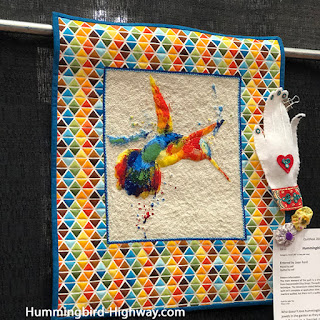 Hummingbird quilt, cross stitch